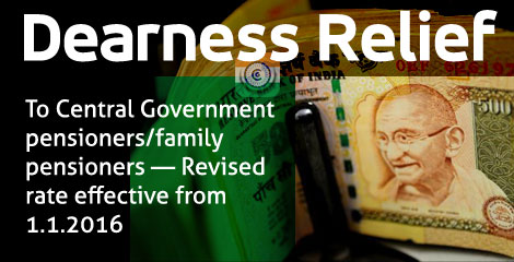 Grant of Dearness Relief to Central Government pensioners