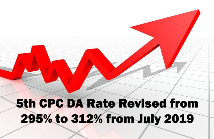 5th CPC DA Rate Revised from July 2019 Central Government Employees
