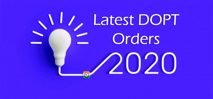 latest dopt orders 2020