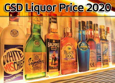 CSD Liquor Price 2020 - army canteen liquor price list 2020 - Central Government Employees