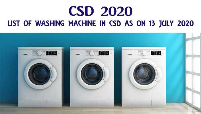 CSD 202 0- CSD AFD Items Washing Machine