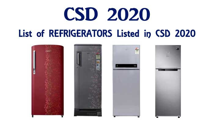 CSD 2020 REFRIGERATORS LIST