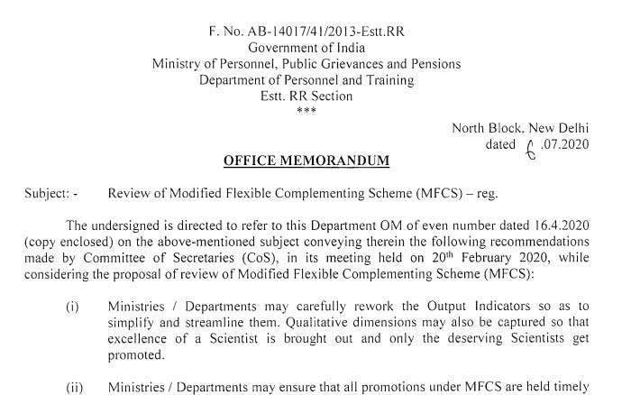 Review of Modified Flexible Complementing Scheme
