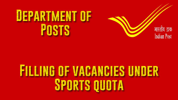 Filling of vacancies under Sports quota - DoP