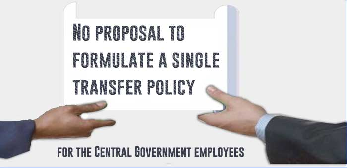 single transfer policy for the Central Government employees