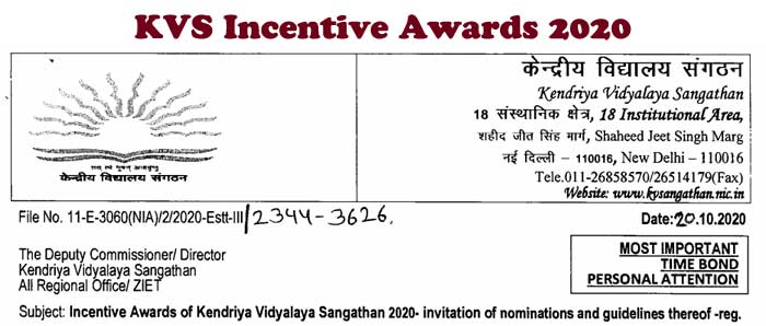 KVS Incentive Awards 2020