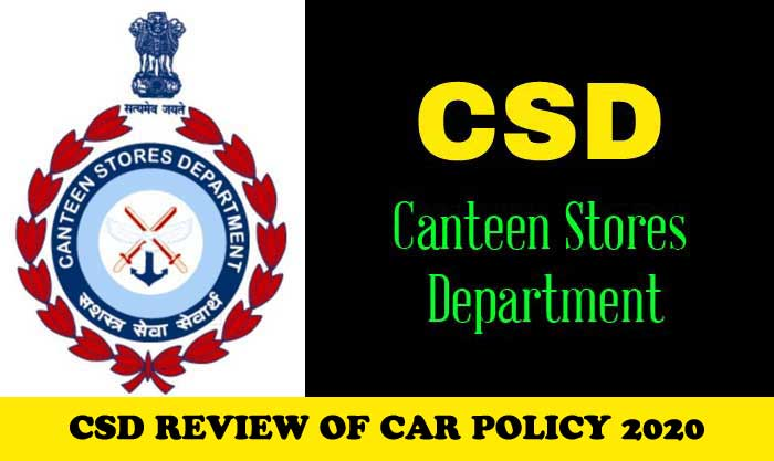 CSD REVIEW OF CAR POLICY 2020