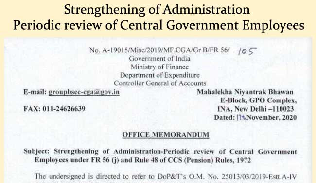 Periodic review of Central Government Employees
