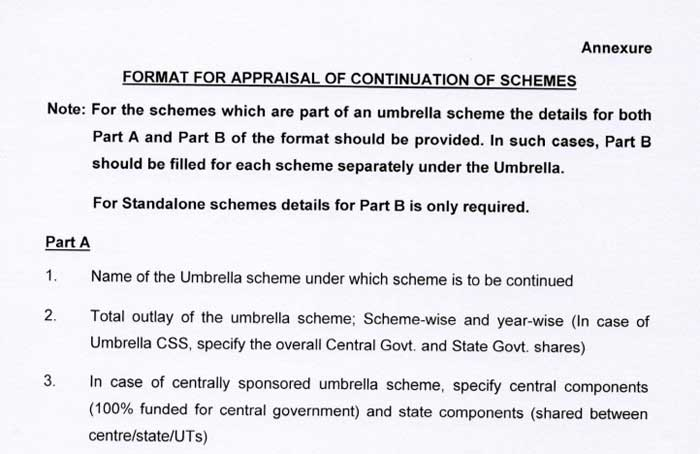 Appraisal of Continuation of schemes beyond 31st March, 2021 - DoE
