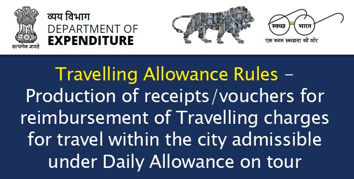 Travelling Allowance Rules - Reimbursement of TA charges within the city