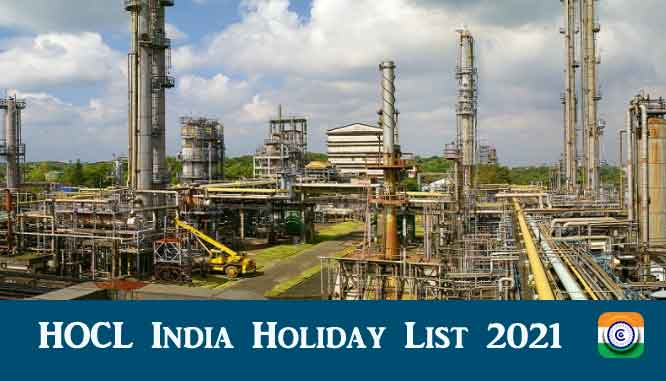HOCL India Holiday List 2021