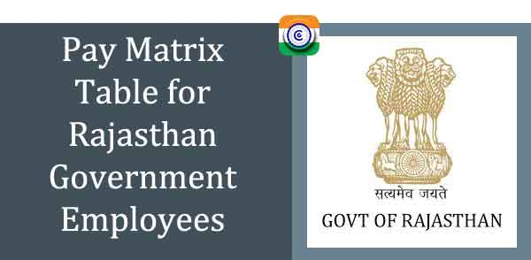 Pay Matrix Table for Rajasthan Government Employees