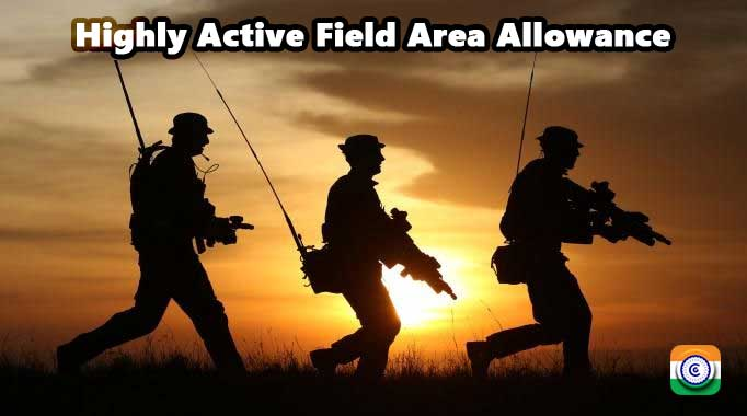 Highly Active Field Area Allowance - Defence