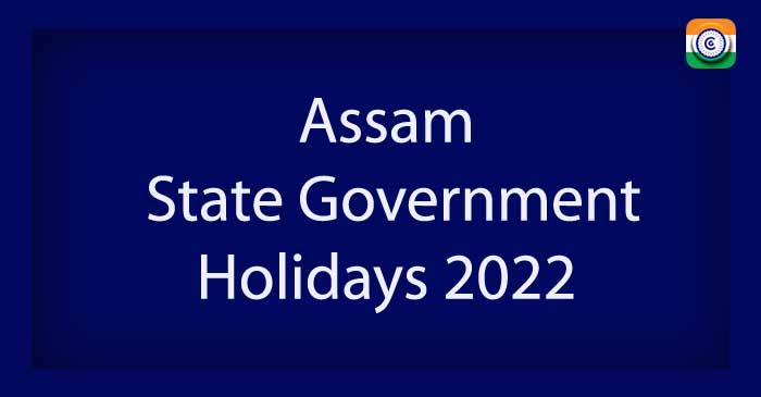 Assam State Government Holidays 2022 PDF Download