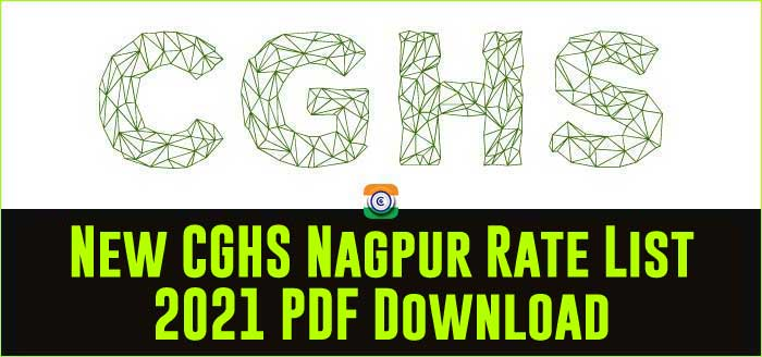 CGHS Nagpur updated Rate Card 2021 PDF