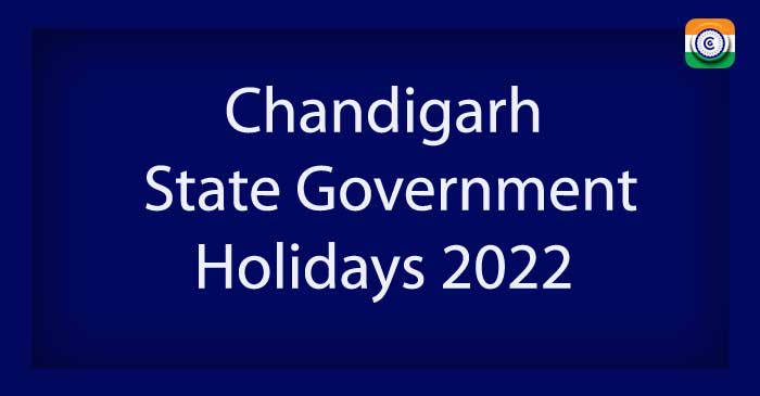 Chandigarh State Government Holidays 2022 PDF Download