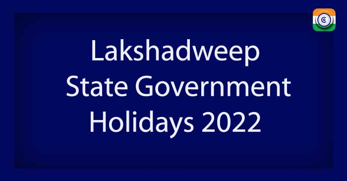 Lakshadweep State Government Holidays 2022 PDF Download