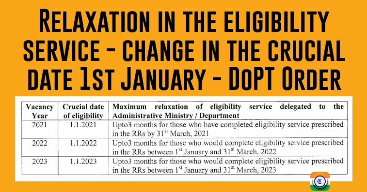 Crucial date of eligibility for promotion - Latest DoPT Order