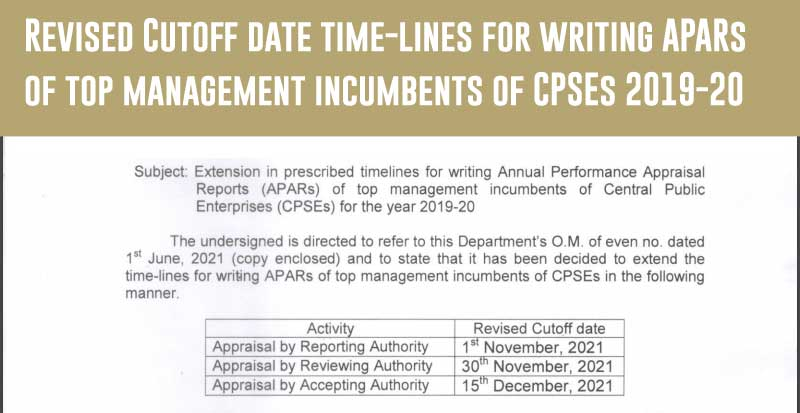 APAR Extension of CPSEs for the year 2019-2020