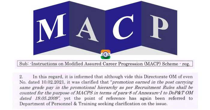 Financial upgradation under ACP Scheme - No order for grant of MACP to IP/ASP by ignoring the promotion to ASP cadre