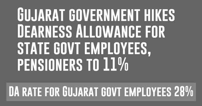 Gujarat government hikes Dearness Allowance for state govt employees, pensioners to 11%